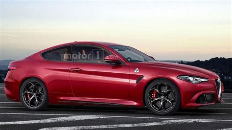 alfa romeo giulia coupe alfa romeo giulia coupe quadrifoglio is only a speculative render