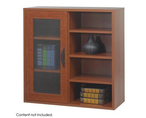 safco combined single door and open adjustable shelf