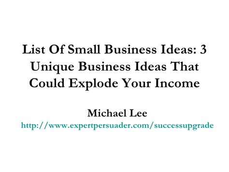 List Of Small Home Business Ideas List Of Business Ideas Driverlayer Search Engine