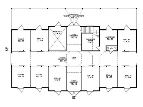 large horse barn floor plans outbuilding plans horse barn plan with hay loft design