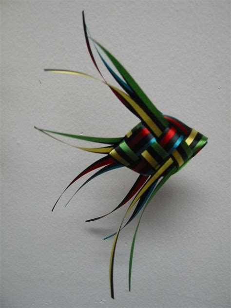 Origami Ribbon Fish - ribbon fish mobile black striped with coordinating solid