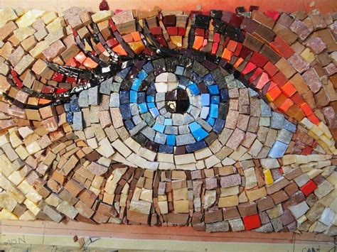 mosaic pattern in eye 438 best mosaic faces images on pinterest mosaics