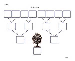 blank family tree template for 9 best images of simple family tree template word simple
