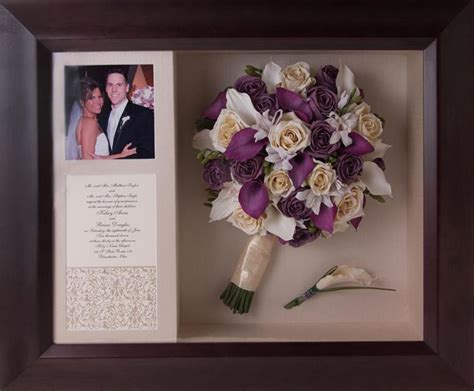 25 best ideas about bouquet shadow box on
