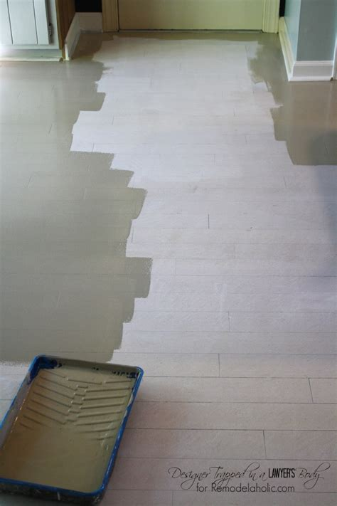 Based Floor Paint by Remodelaholic High Style Low Cost Painted And Stenciled