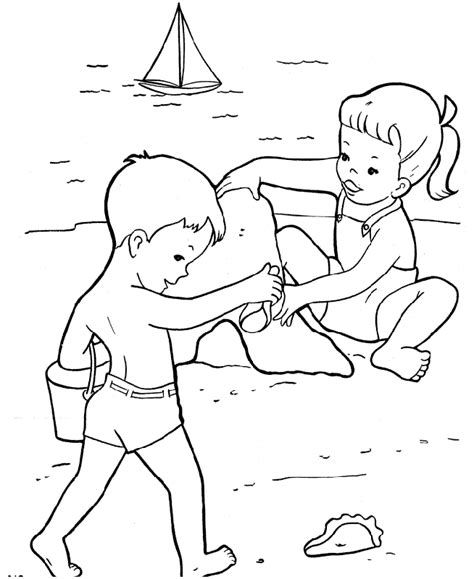 printable images beach preschool beach coloring pages coloring home