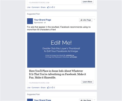 Facebook Ad Template Ad Post Template