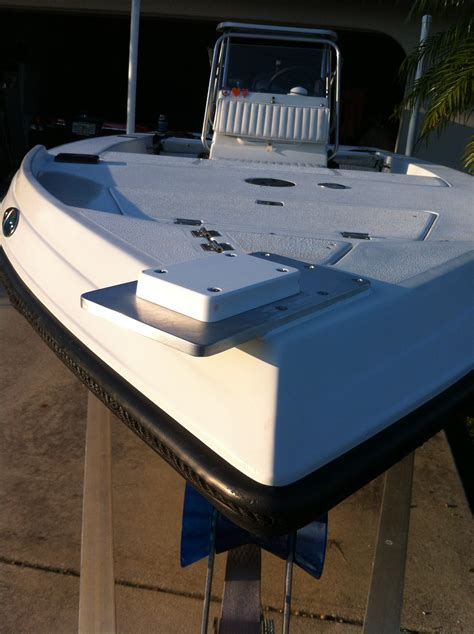 boat trolling motor mount trolling motor on my new boat page 2 the hull truth