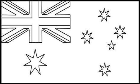 australian flag template to colour australian flag coloring sheet coloring pages