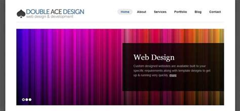 design google front page website blog launched double ace design web design