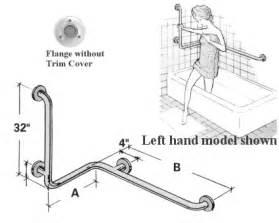 Left Hand Bathtub Grab Bars Accessible Environments