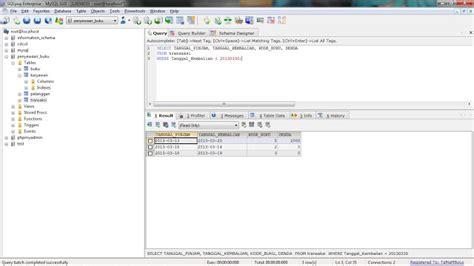 membuat database sql yog membuat database penyewaan buku dengan sqlyog enterprise