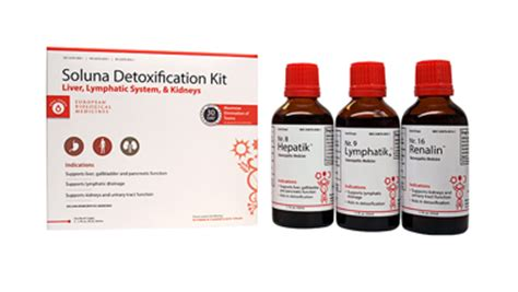 Detox Kit Homeopathic Medication by Soluna Detox Kit 30 Day Program
