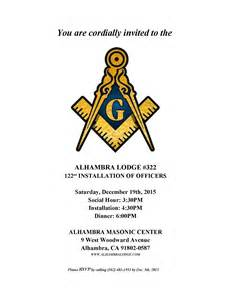 Masonic Trestle Board Template by 2016 Installation Program The Alhambra Masonic Lodge No 322