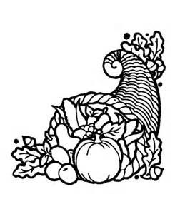 thanksgiving outline thanksgiving day coloring page sheets cornucopia 3 horn