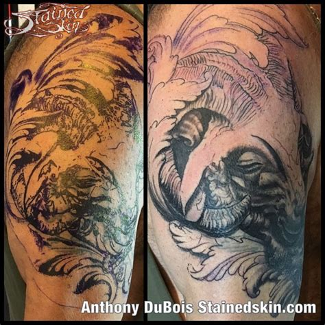 animal cover up tattoo anthonydubois rams head cover up cover up ram tattoo