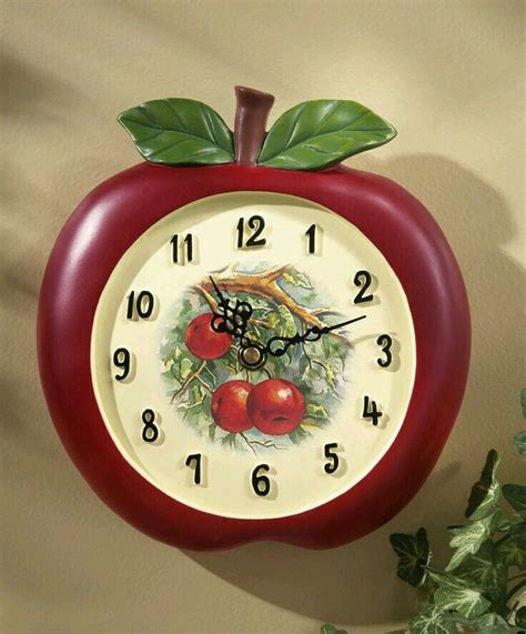 themes apple clock apple kitchen wall clock quot apples quot kitchen theme