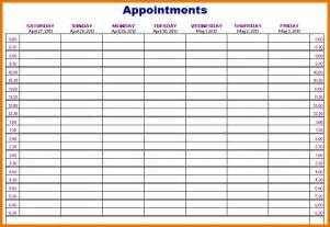 Appointment Book Template by Printable Appointment Calendar Appointments Schedule