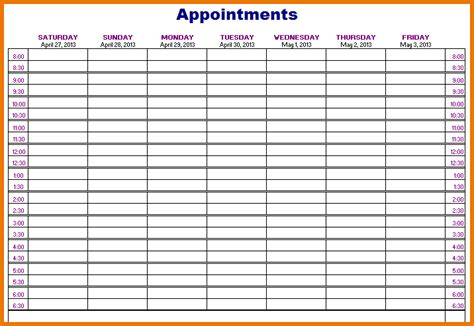 appointment book templates charlotte clergy coalition
