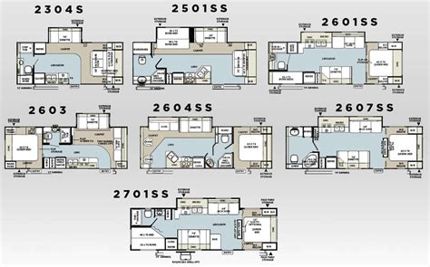 Forest River Travel Trailers Floor Plans | forest river rockwood travel trailer floorplans
