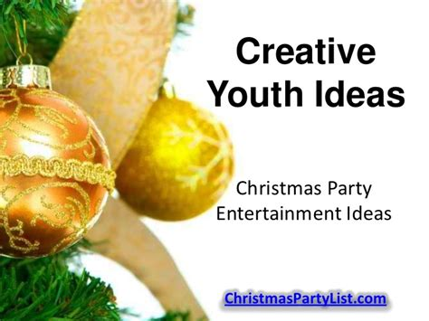 christmas party entertainment ideas