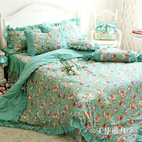 designer mint green bedding set elegant american country