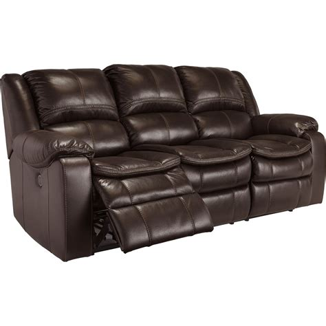 ashley double recliner ashley longknight double reclining sofa brown sofas