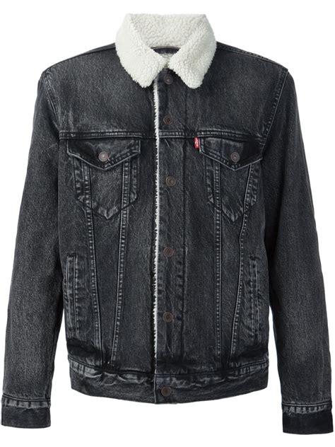 Blazer Levis levis 505 brusted black cotton sherpa denim jacket from levi s jackets levis 514 free