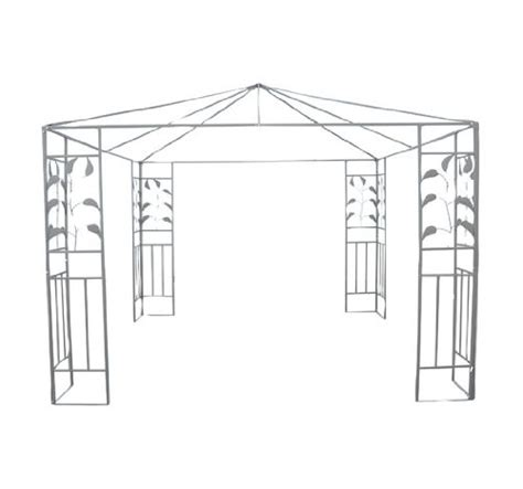 leaf pattern gazebo outsunny steel gazebo frame 10 feet x 10 feet leaf