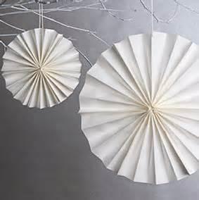 Paper Folding Decorations - diy decor adorable rosette decorations wedding101