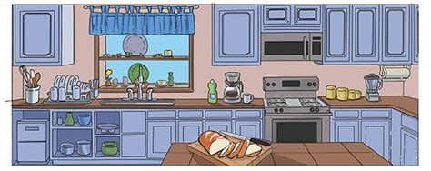 kitchen cartoon animation backgrounds on behance