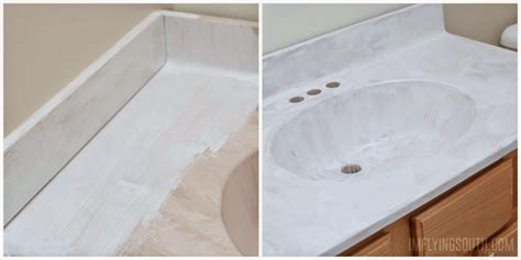 epoxy paint for bathroom sink remodelaholic painted bathroom sink and countertop makeover
