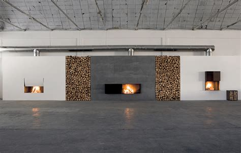 Large Fireplace Design by Create A Warm Ambiance With Skema Fireplace By Antonio Lupi