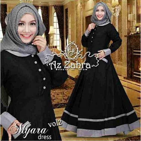 baju myara maxi hitam grosir baju muslim pakaian