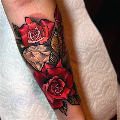 colored roses tattoos stunning beautiful colored with flower