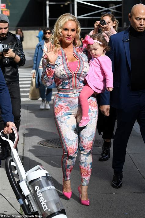 St Kid Coco Pink coco shows in skin tight floral bodysuit daily mail