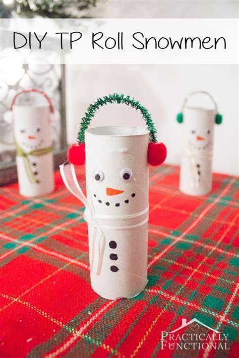 Halloween Gift Wrap - diy toilet paper roll snowmen