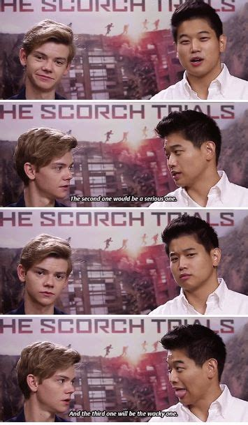 film maze runner part 1 thescorchtrials cast thomas sangster and ki hong lee