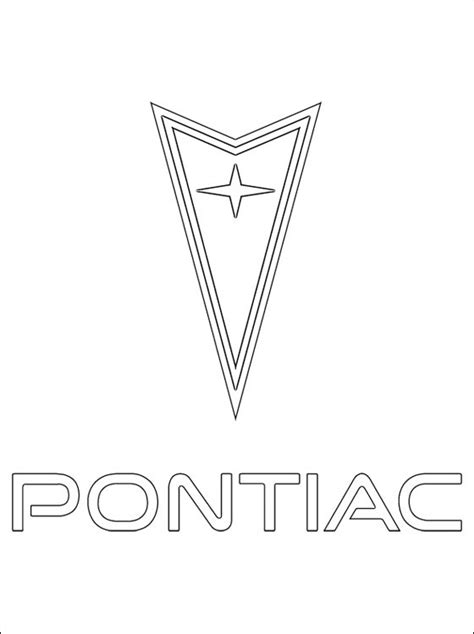 coloring pages car logos pontiac coloring page coloring pages