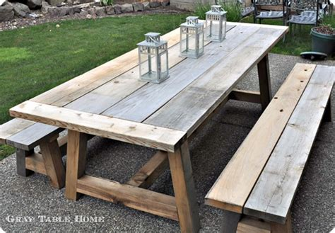 Diy Furniture Restoration Hardware Inspired Outdoor Patio Table Plans Diy