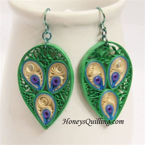 Discover New Designers Jewelry On Etsycom by Peacock Design Paper Quilled Earrings Tutorial Honey S