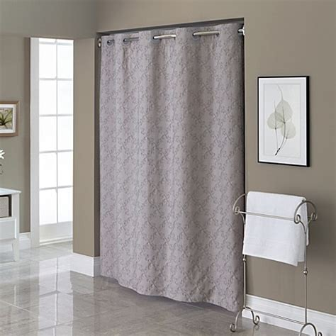 hookless fabric shower curtain liner hookless 174 embroidered diamond 71 inch x 74 inch fabric