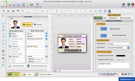 mac id card design software screenshots for designing and mac gate pass id cards maker software screenshots to