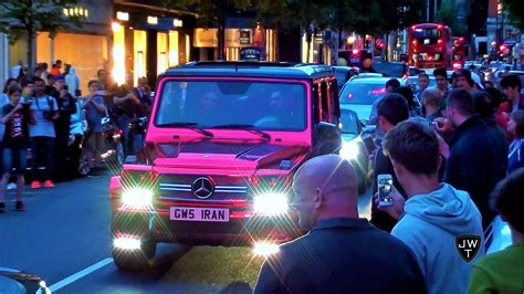 chrome red mercedes brabus  amg  london   loud