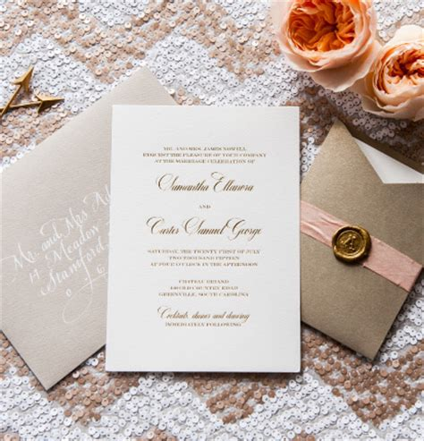 custom foil sted wedding invitations white gold sting zoom others extraordinary project on www shv handball org