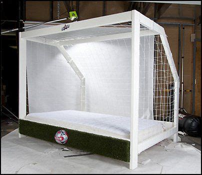 soccer bed keen young goalie at home this is an amazing bed frame