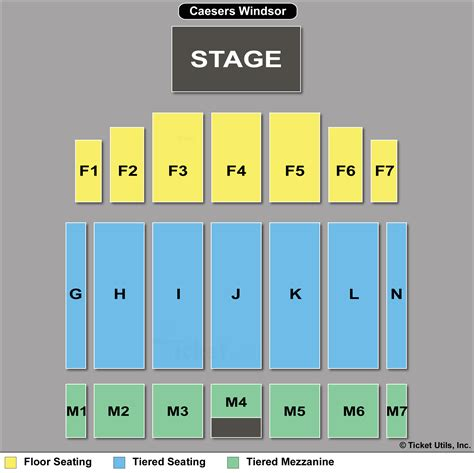 caesars windsor floor plan 2 tix scorpions queensryche f7 9 25 the colosseum at
