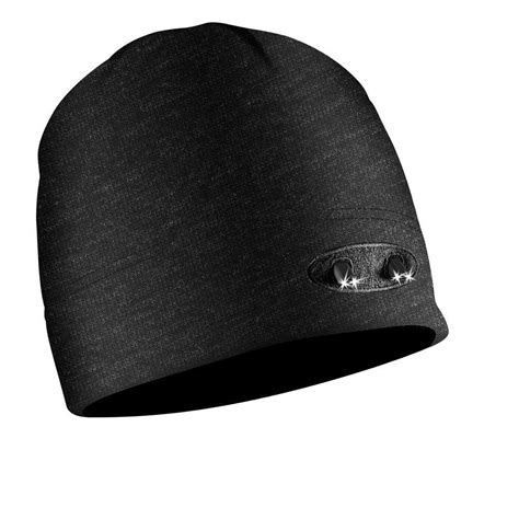 beanie cap with light powercap 4 led winter beanie lighted hat black cubwb 4768