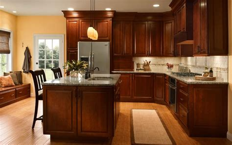 kitchen decorating ideas dark cabinets the wall the kitchen ideas cherry cabinet which invites everybody
