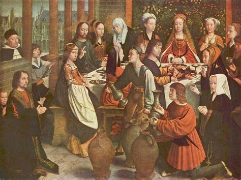 Hochzeit Zu Kana by The Marriage At Cana Gerard David Wikiart Org